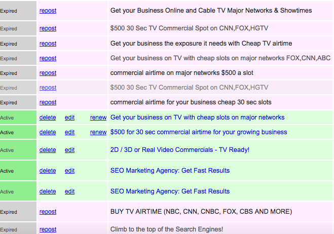 How to Renew Ads on Craigslist