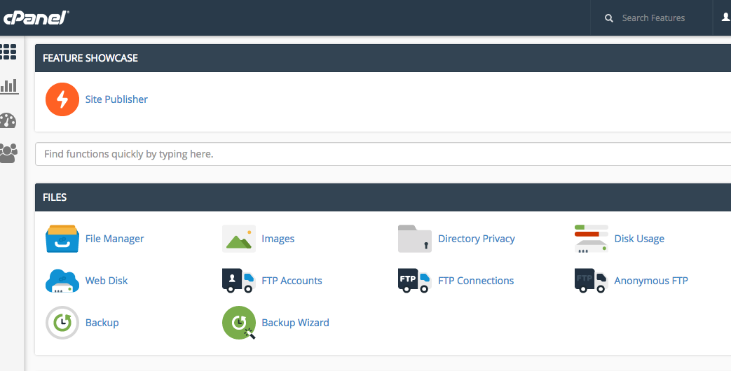 How to Upload Files with Control Panel / Cpanel